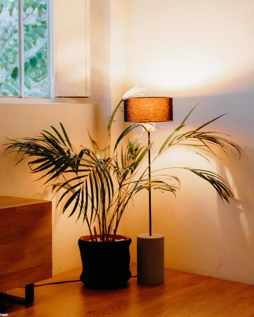 floor lamp with cement base