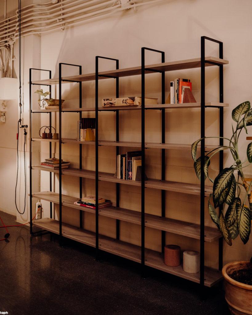 bookcase with melamine shelves