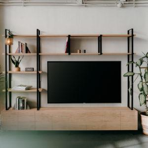 Modular bookcase system, tv furniture