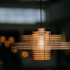 modular wooden lampshade