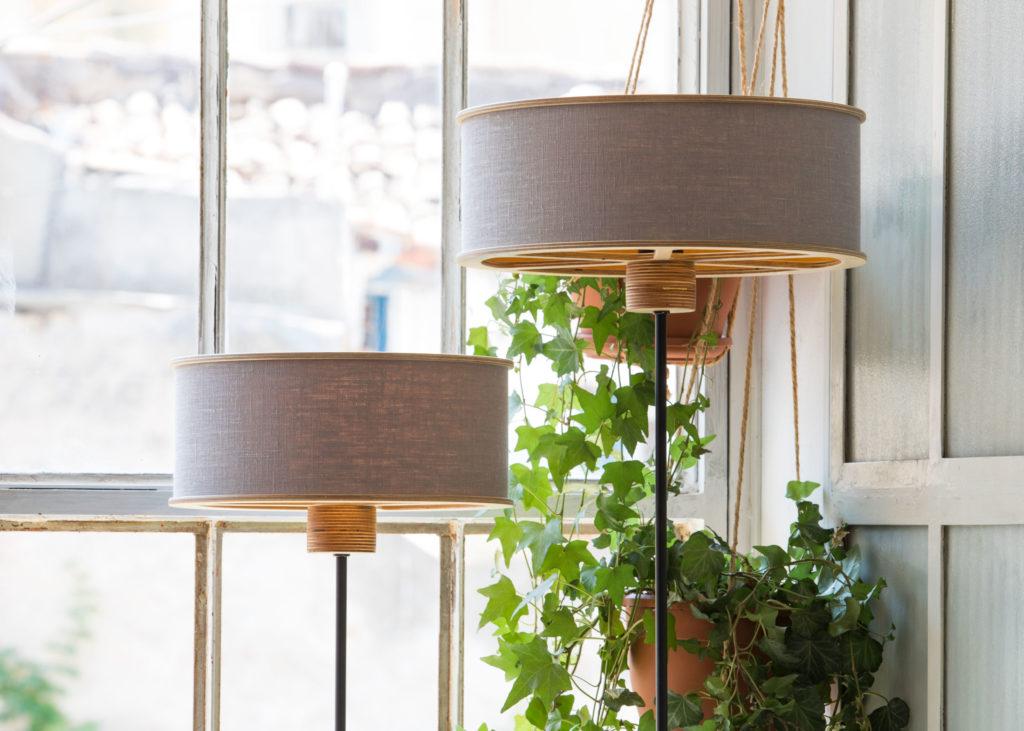 light grey lampshade
